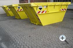 Alustahl-Containertechnik / Altakku-Absetzcontainer